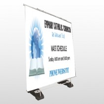 Book World 163 Exterior Pocket Banner Stand
