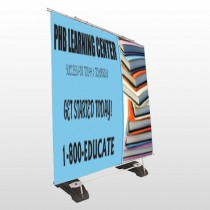 Book Learning 156 Exterior Pocket Banner Stand