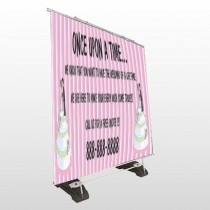 Cake Topper 412 Exterior Pocket Banner Stand