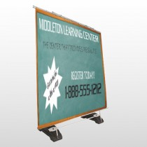 Chalk Board 157 Exterior Pocket Banner Stand