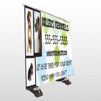 Dog Kennels 300 Exterior Pocket Banner Stand