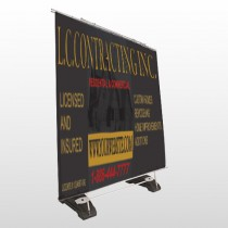 Faded House 500 Exterior Pocket Banner Stand