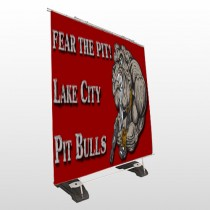 Fear Dog Mascot 51 Exterior Pocket Banner Stand