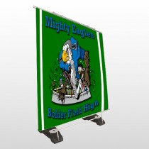 Green 56 Exterior Pocket Banner Stand