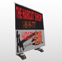 Haircut Scissor 644 Exterior Pocket Banner Stand