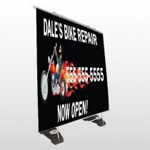 Harley Flame 108 Exterior Pocket Banner Stand