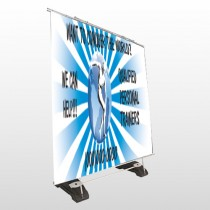 Man On Earth 406 Exterior Pocket Banner Stand