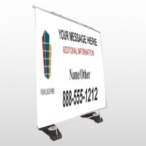 Mortgage 177 Exterior Pocket Banner Stand