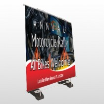 Motorcycle Flame 322 Exterior Pocket Banner Stand