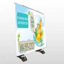 Palm Island Pool 534 Exterior Pocket Banner Stand