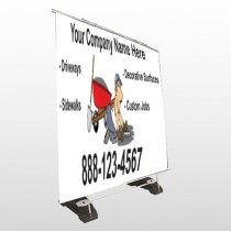Paving 262 Exterior Pocket Banner Stand