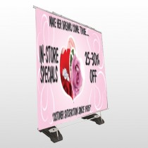 Pink Rose Hide Ring 400 Exterior Pocket Banner Stand