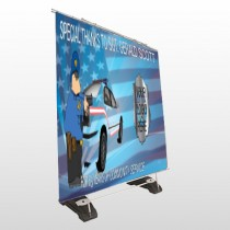 Police Thanks 429 Exterior Pocket Banner Stand