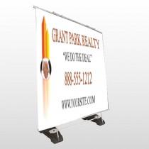 Real Handshake 365 Exterior Pocket Banner Stand