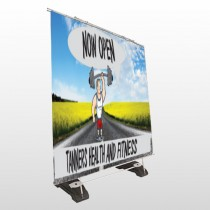 Road Workout 407 Exterior Pocket Banner Stand