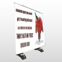 Running Heart 401 Exterior Pocket Banner Stand