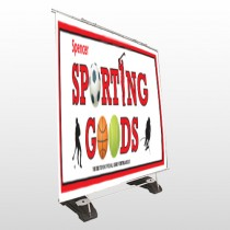 Sporting Goods 528 Exterior Pocket Banner Stand