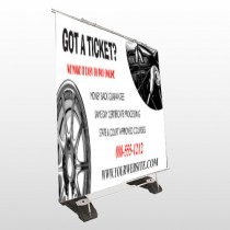 Steering Wheel 154 Exterior Pocket Banner Stand