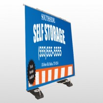 Storage Building 120 Exterior Pocket Banner Stand