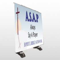 Sunrise Cross 164 Exterior Pocket Banner Stand
