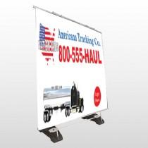 Tanker Truck 315 Exterior Pocket Banner Stand