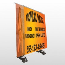 Tropical Rayz Tan 490 Exterior Pocket Banner Stand