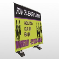 Uptown Salon 642 Exterior Pocket Banner Stand