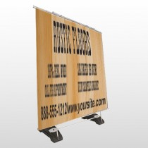 Wood Panel 248 Exterior Pocket Banner Stand