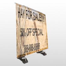 Wood Wheel 413 Exterior Pocket Banner Stand