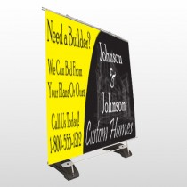 Yellow House Plan 216 Exterior Pocket Banner Stand