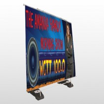 AMP Morning Show 439 Exterior Pocket Banner Stand