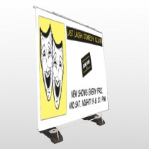 Comedy Mask 516 Exterior Pocket Banner Stand