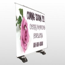 Pink Rose Hidden Ring 399 Exterior Pocket Banner Stand