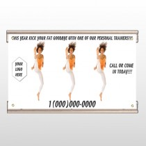 High Kick Woman 408 Track Banner