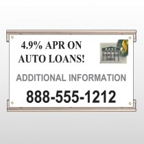 Auto Loan 155 Track Sign