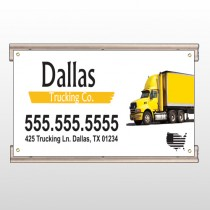 Yellow Truck 296 Track Sign