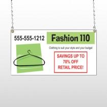 Fashion Hanger 526 Window Sign