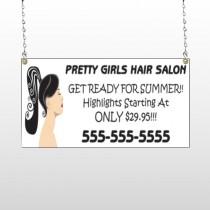 Pretty Girl Hair 290 Window Sign