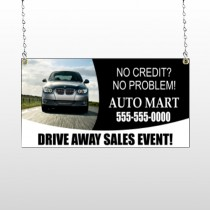 Auto Mart 114 Window Sign