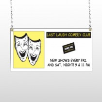 Comedy Mask 516 Window Sign