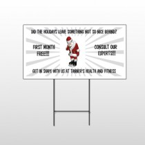 Health Santa 402 Wire Frame Sign