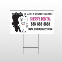 Winking Tooth 501 Wire Frame Sign