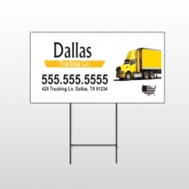 Yellow Truck 296 Wire Frame Sign