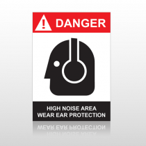 ANSI Danger High Voltage Area Wear Ear Protection