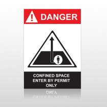ANSI Danger Confined Space Enter By Permit Only