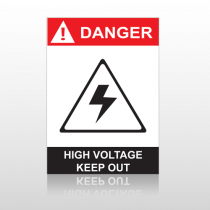 ANSI Danger High Votage Keep Out