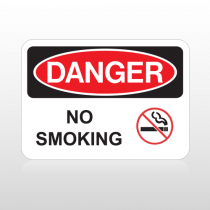 OSHA Danger No Smoking