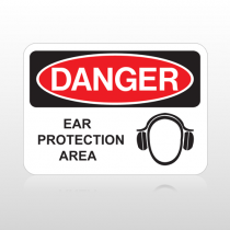 OSHA Danger Ear Protection Area