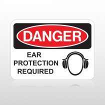 OSHA Danger Ear Protection Required