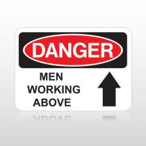 OSHA Danger Men Working Above